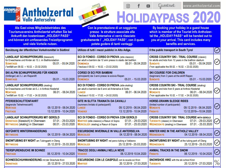 Holidaypass 2019/2020